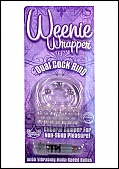 Weenie Wrapper- Dual Cock Ring - Clear (74378.12)